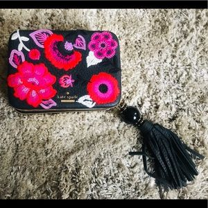 Embroidered Kate Spade ♠️ clutch.